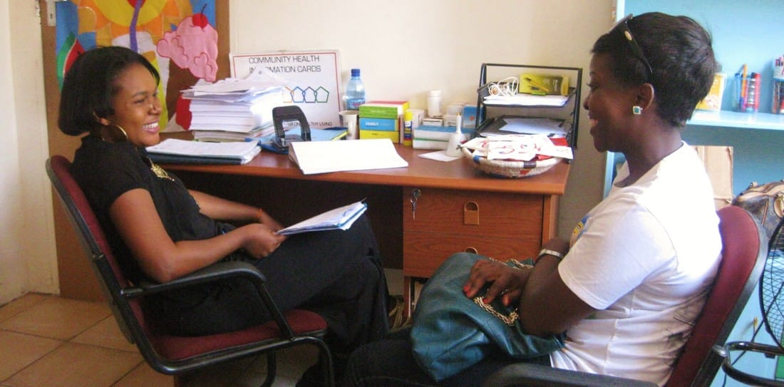 Betty during a counselling session at the TTF Clinic.