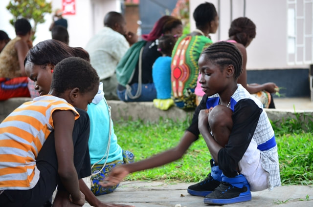 Children playing at the TTF Clinic